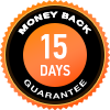 Money Back Guarantee 15 days