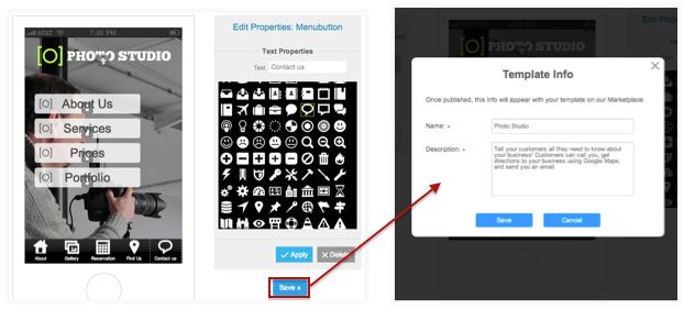 How to create custom app template