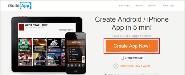 Ibuildapp Create Android And Iphone App Free No Coding