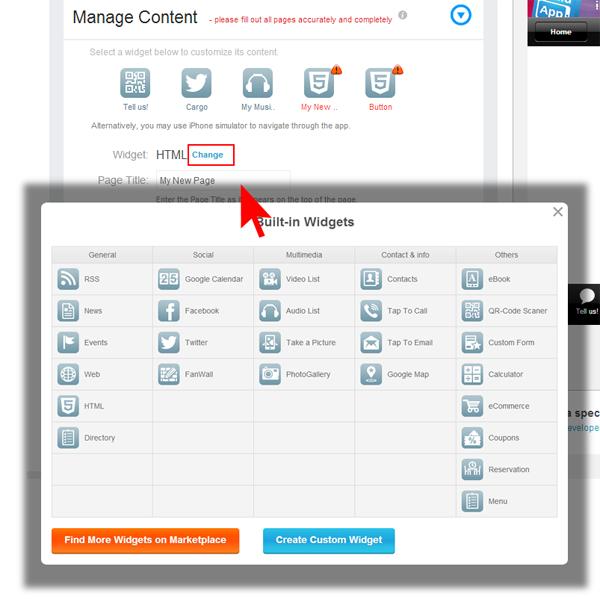 What is widget in mobile app