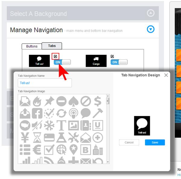 App look and feel customization