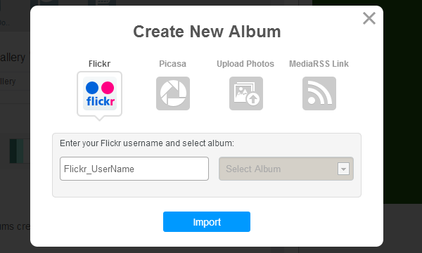 Photo Gallery in Android and iPhone mobile apps