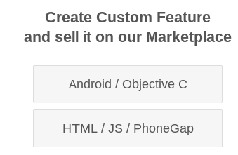 Creating and Selling Mobile Features