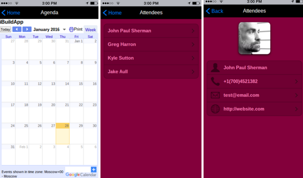New Conference or Event App Templates available iBuildApp – Attendee List Template