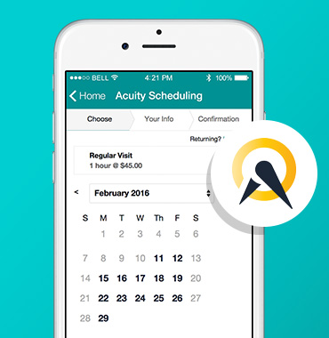 Use powerful Acuity Scheduling in your app