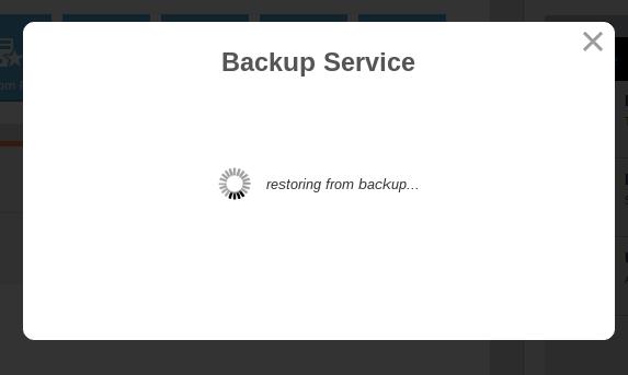 restore data