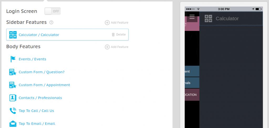 Icons in the App Sidebar Menu