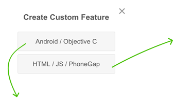 Choose type of Your Custom Feature