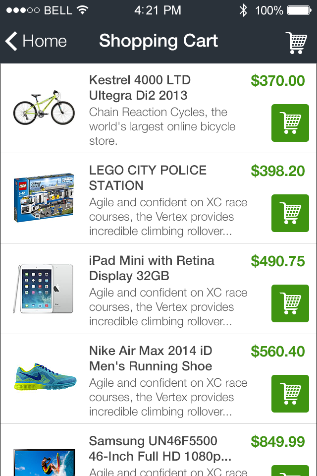 Mobile shopping cart to create your own mobile app mobile shopping cart app features publicscrutiny Gallery