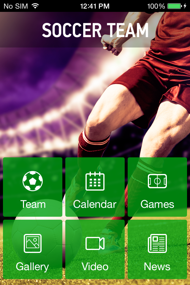 Use Soccer Team to make your free mobile app