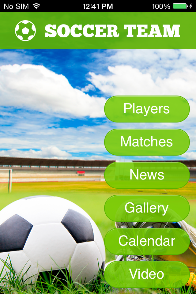 Use Soccer Team 2 to make your free mobile app
