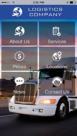 Use Logistics Company to make your free mobile app