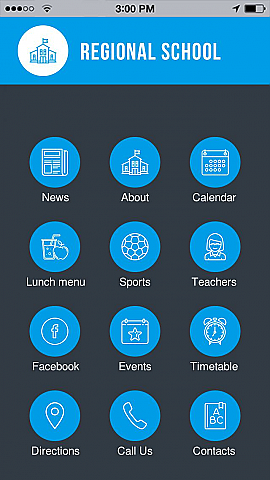Schools and Universities App Templates - Android, iPhone, iPad