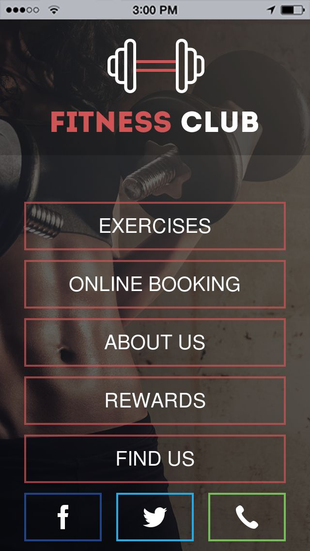 Fitness Club App Templates