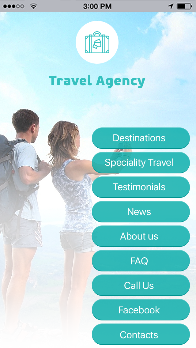 Travel Agency App Templates