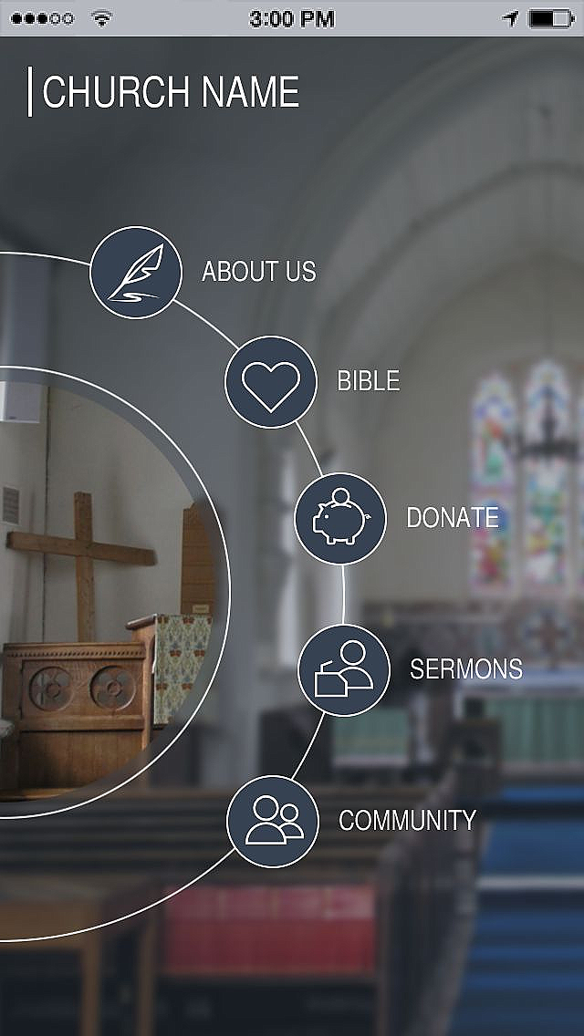 use church template to make your free mobile app