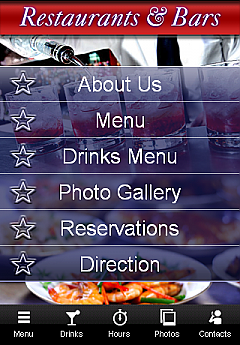 Bar & Restaurants App Templates