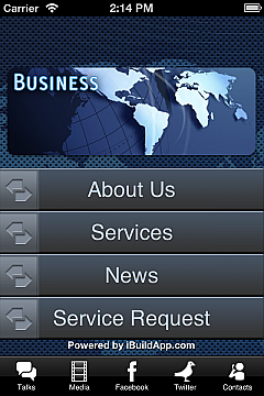 business app templates android iphone ipad