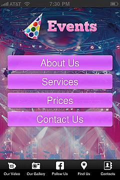 Solution 31483 - Events App