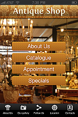 Antique Shop App Templates