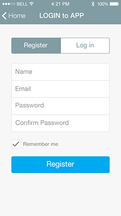 Login Page App Features