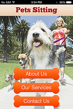 Pets Sitting App Templates