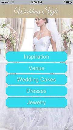 Weddings app templates android iphone ipad wedding style app templates junglespirit Choice Image