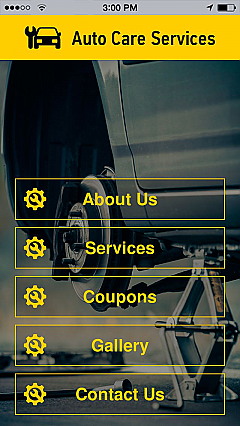 Auto Care Services App Templates