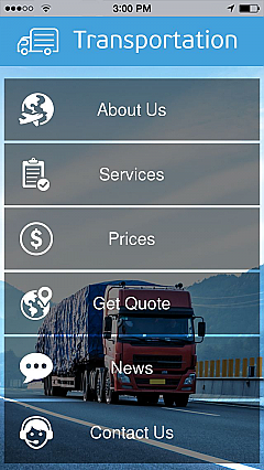 Transportation App Templates