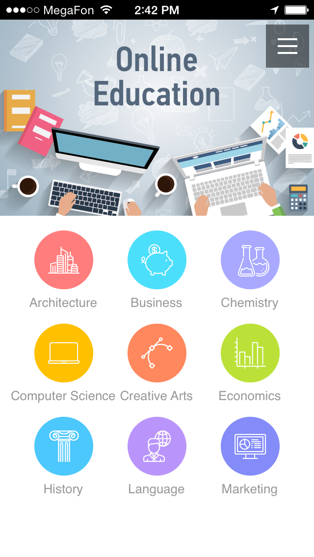 Create school college educational apps for students Online classroom designer