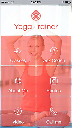 fitness beauty app templates android iphone ipad