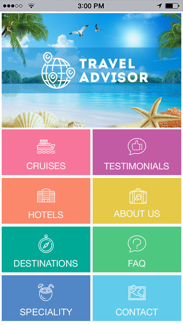 Travel Hotels App Templates Android Iphone Ipad