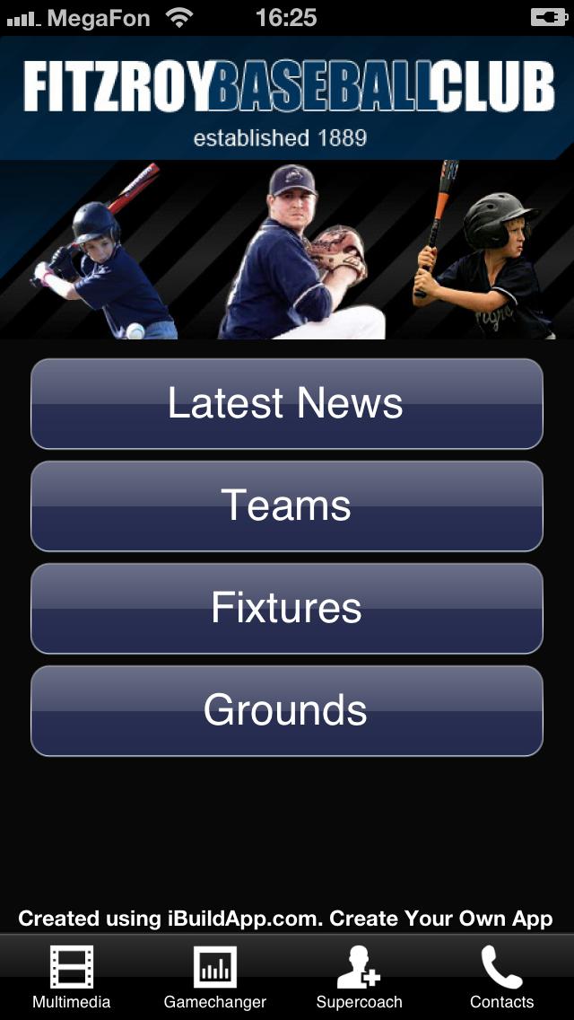 Equipo de Beisbol  con una Aplicación