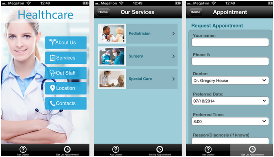 Doctors Office with Mobile App