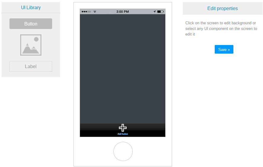 Steps for Creating a Mobile App from a Blank Template