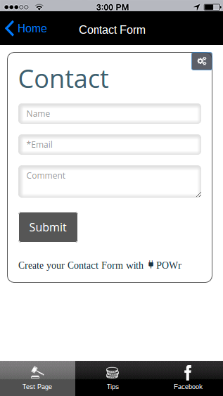 POWr mobile forms