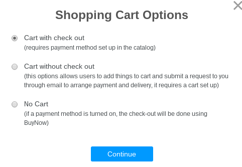 ecommerce store cart