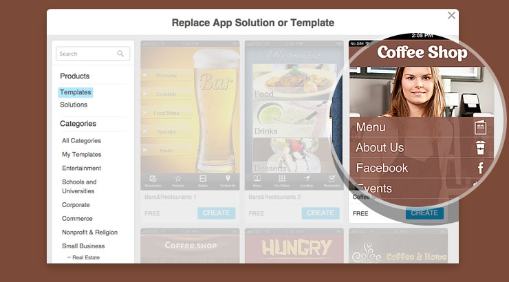 How to Change App Template