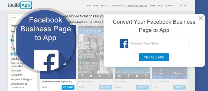 Turn Your Facebook Business Page Into a Mobile App - iBuildApp
