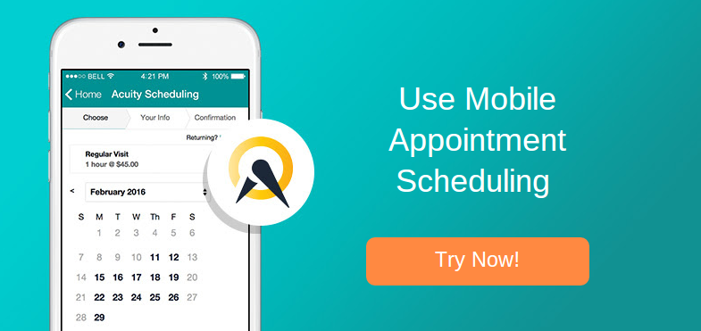book appointment by acuity online schedule software