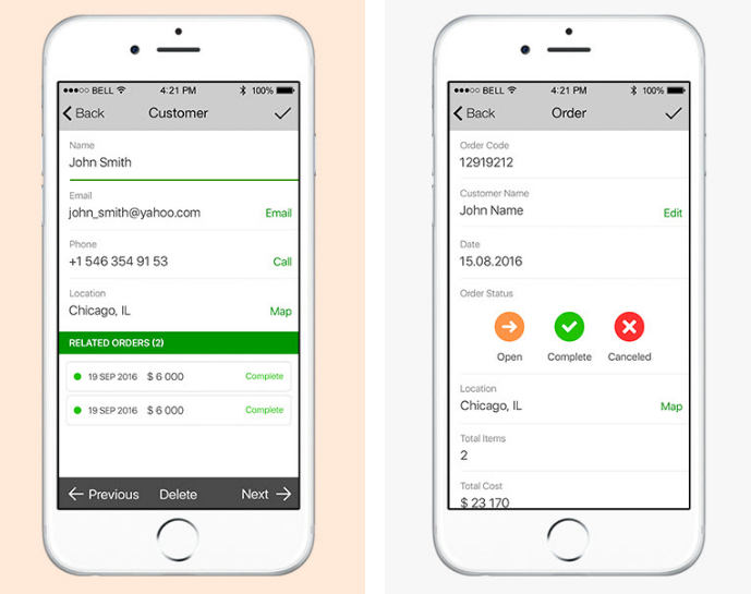 Mobile Order Management