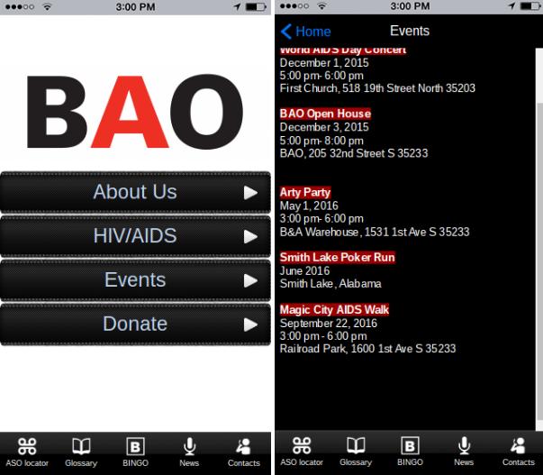 HIV/AIDS mobile app