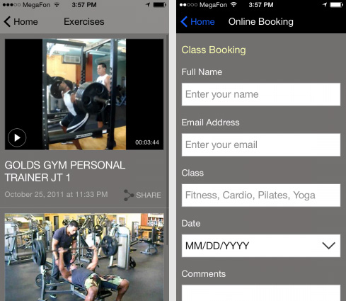 Fitness App Designs