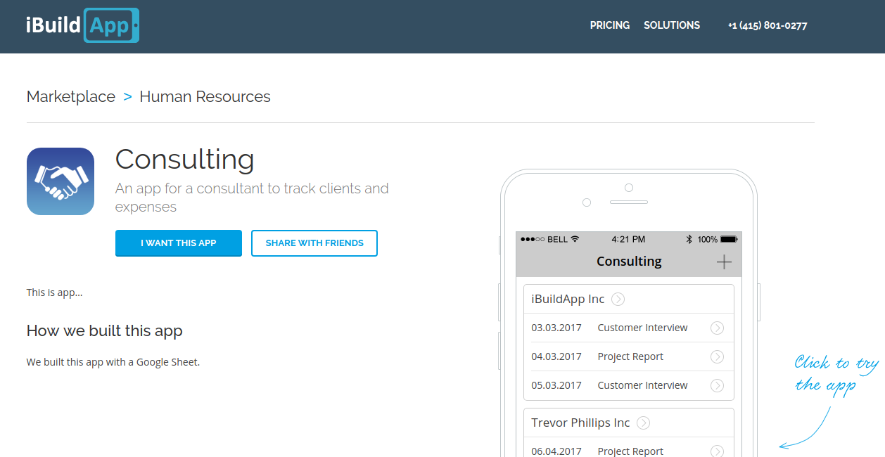 New Consulting App Logs Clients